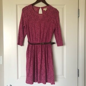 Maison Jules Rouge Red Lace Dress